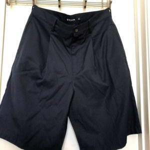 Chaps Golf Mens Shorts Blue Pleated 32